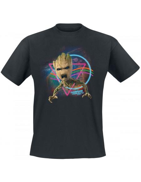 Les Gardiens De La Galaxie Groot T-shirt noir