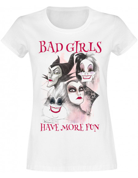 Disney Villains Bad Girls Have More Fun T-shirt Femme blanc