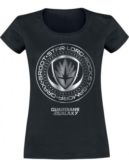 Les Gardiens De La Galaxie Sceau Métallique T-shirt Femme noir