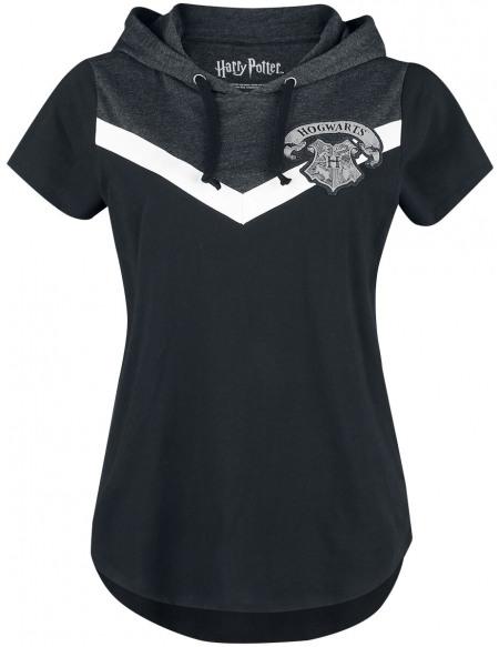 Harry Potter Poudlard T-shirt Femme noir/gris