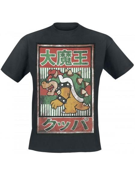 Super Mario Bowser - Vintage T-shirt noir