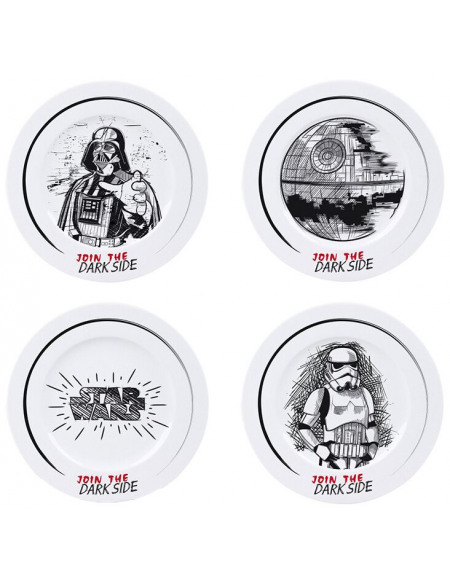 Star Wars Join The Dark Side Assiette multicolore