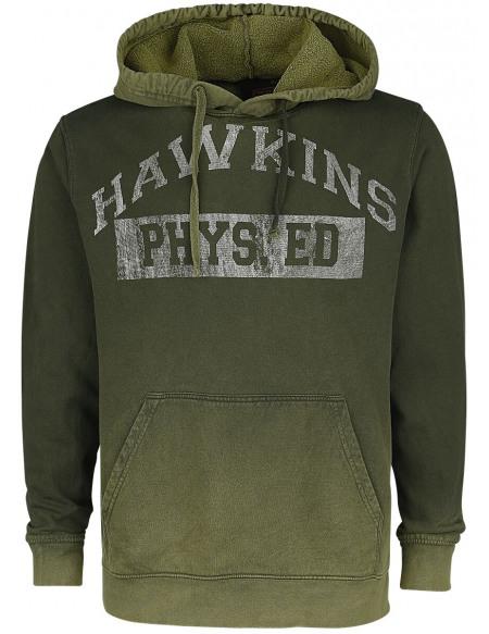 Stranger Things Hawkins High School Sweat à capuche vert