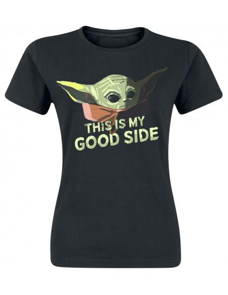 Star Wars The Mandalorian - This Is My Good Side T-shirt Femme noir