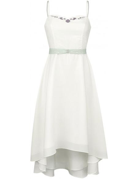 La Petite Sirène Embrasse-là - Cocktail Robe blanc