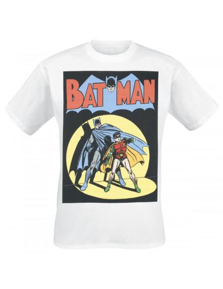 Batman Batman & Robin - Couverture Vintage T-shirt blanc