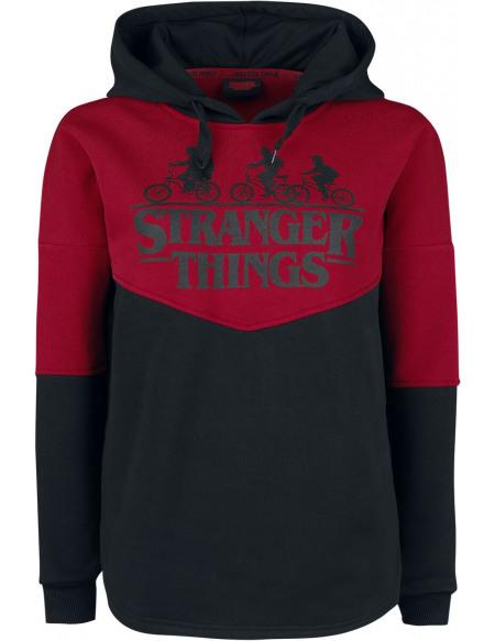 Stranger Things Upside Down Veste à Capuche Femme rouge/noir