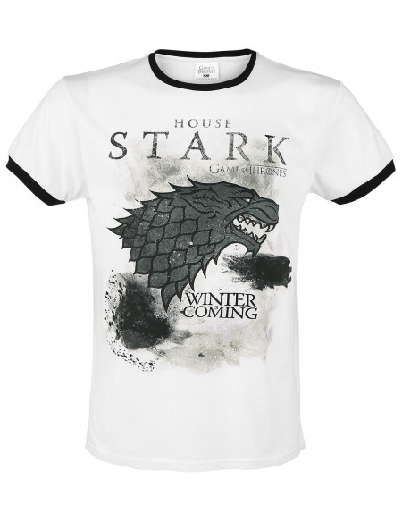 Game Of Thrones La Tempête Stark T-shirt blanc/noir