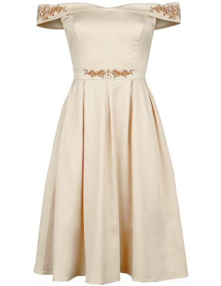 La Belle Et La Bête Belle - Prom Robe beige