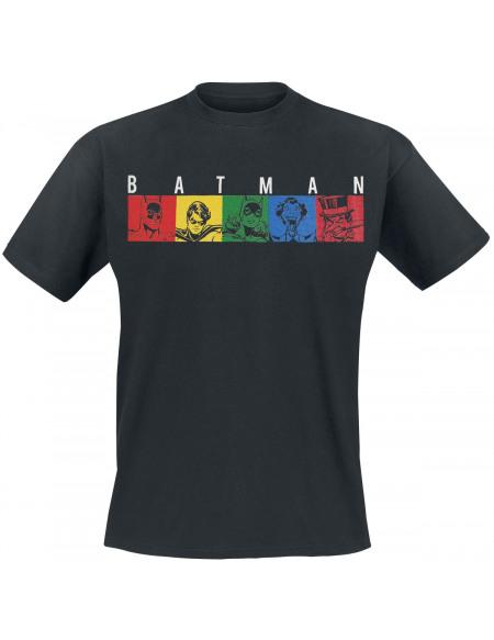 Batman Blocs Comics T-shirt noir