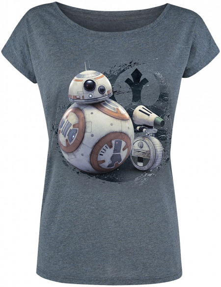 Star Wars Friendship Fille T-shirt Femme bleu chiné