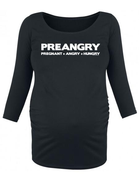 Vêtements de maternité Preangry Pregnant + Angry + Hungry Haut à manches longues noir