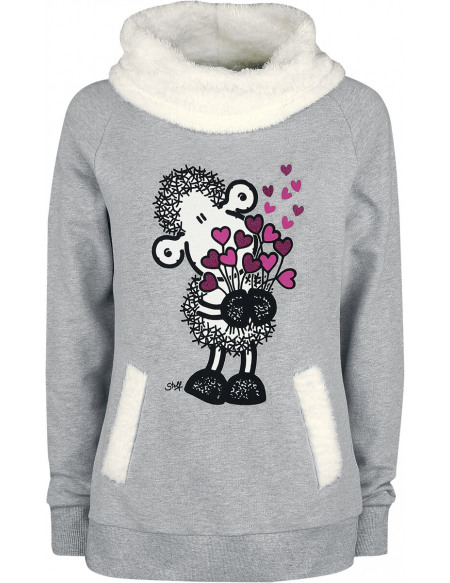 Sheepworld Blumenstrauß Sweat-shirt gris chiné