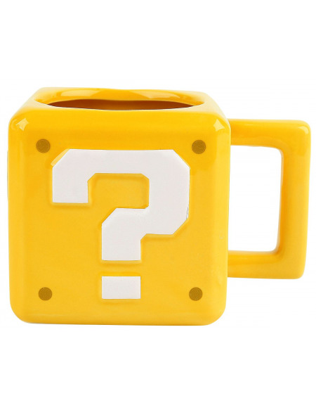 Super Mario Question Block Mug jaune