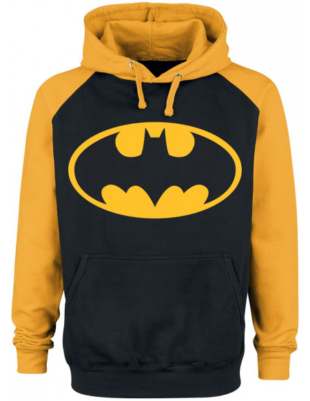 Batman Logo Sweat à capuche noir/jaune