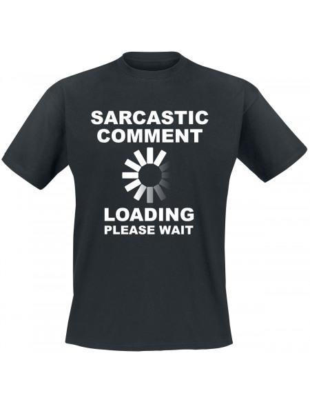 Sarcastic Comment T-shirt noir