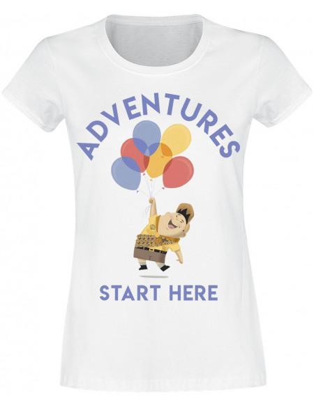 Là-Haut Russell - Adventures Start Here T-shirt Femme blanc