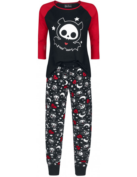 Skelanimals Diego The Bat Pyjama noir