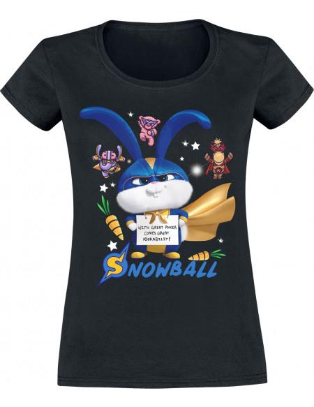 Comme Des Bêtes 2 - Snowball - Superhero T-shirt Femme noir
