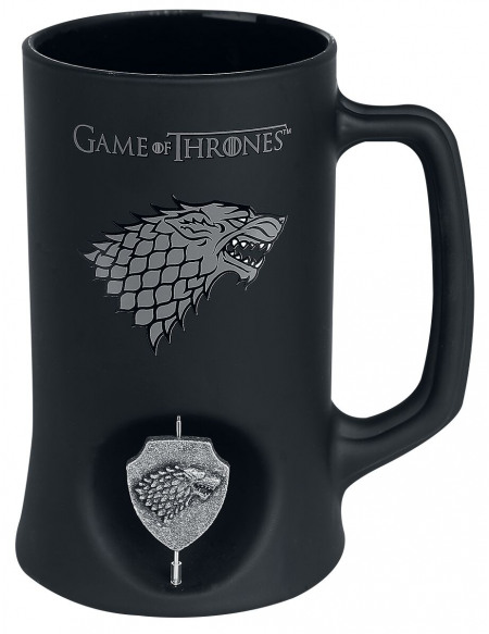 Game Of Thrones Maison Stark - Chope Avec Spinner Chope à bière noir