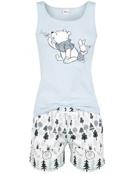 Winnie l'Ourson Forest Pyjama bleu clair/blanc