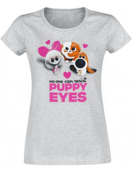Comme Des Bêtes Comme Des Bêtes 2 - Puppy Eyes T-shirt Femme gris chiné