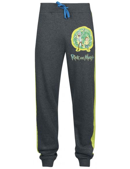 Rick & Morty Portail Pantalon de Jogging gris chiné