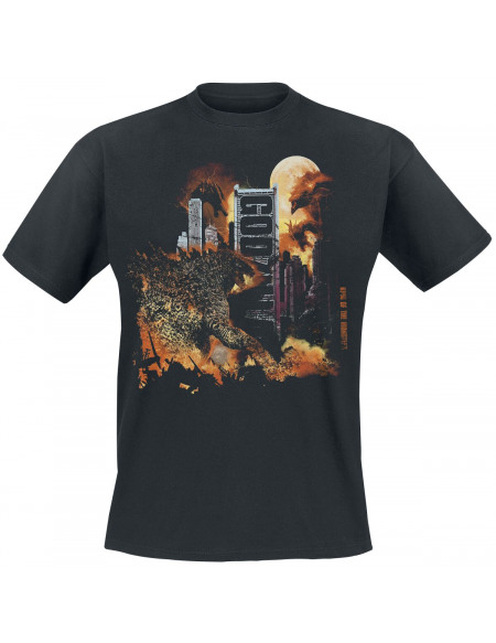 Godzilla Ville T-shirt noir