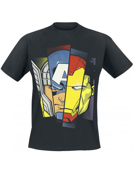 Avengers Faces T-shirt noir