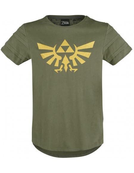 The Legend Of Zelda Wingcrest - Triforce T-shirt vert
