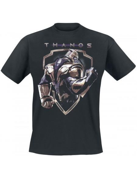 Avengers Endgame - Badge Thanos T-shirt noir