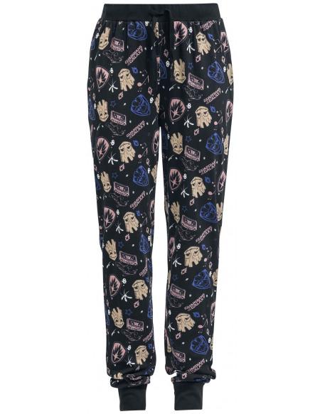 Les Gardiens De La Galaxie Groot - Symboles Bas de pyjama noir
