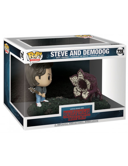 Stranger Things Figurine En Vinyle Steve Et Demodog (Movie Moments) 728 Figurine de collection Standard