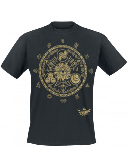 The Legend Of Zelda Wingcrest - Triforce T-shirt noir