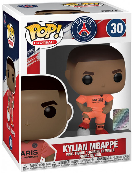 Football Paris Saint-Germain - Kylian Mbappé (Maillot Extérieur) - Funko Pop! n°30 Figurine de collection Standard