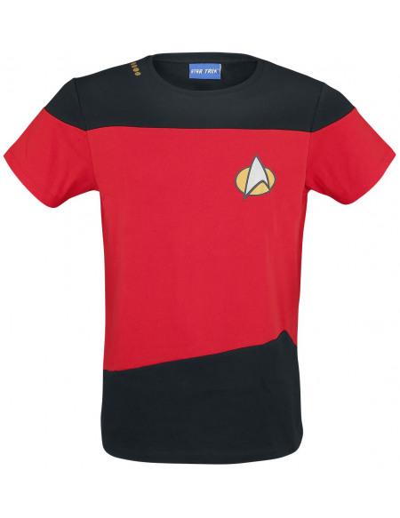 Star Trek : La Nouvelle Génération Uniforme rouge T-shirt rouge/noir