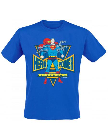 Superman World Hero T-shirt bleu