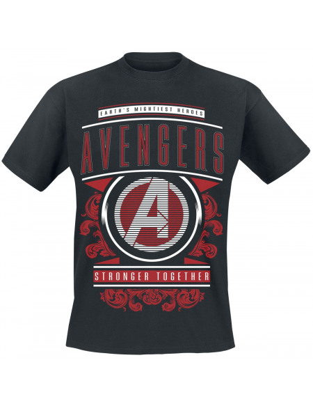 Avengers Endgame - Stronger Together T-shirt noir