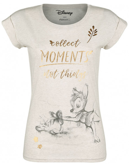 Bambi Collect Moments Not Things T-shirt Femme crème marbrée