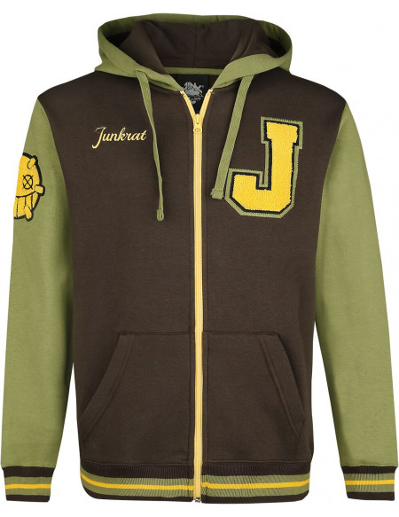 Overwatch Junkrat Sweat Zippé à Capuche marron/vert