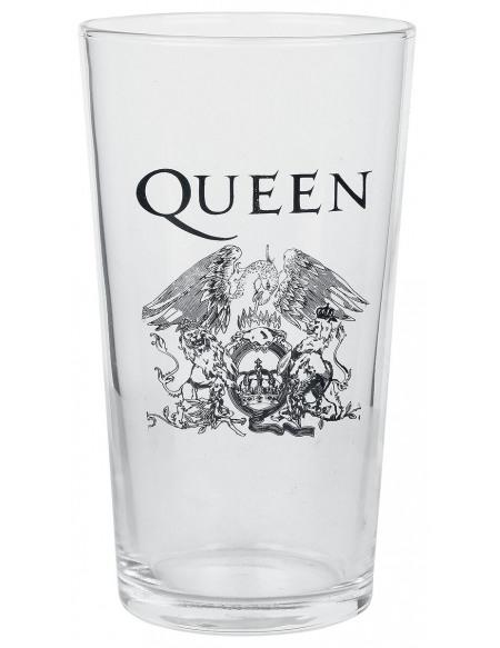 Queen Crest Verre à pinte transparent