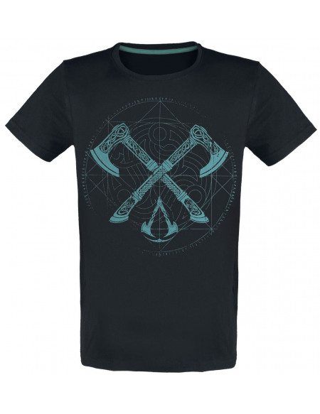 Assassin's Creed Valhalla - Haches T-shirt noir