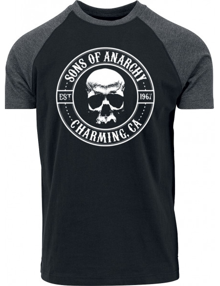 Sons Of Anarchy Charming T-shirt chiné noir/gris