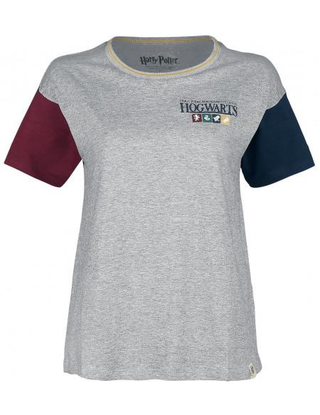 Harry Potter Emblème Poudlard T-shirt Femme gris chiné
