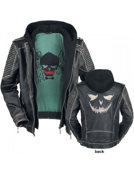 Suicide Squad Le Joker Blouson en Cuir noir