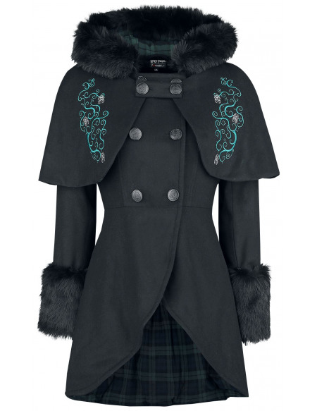 Harry Potter Forbidden Forest - Magical Creatures Manteau Femme noir