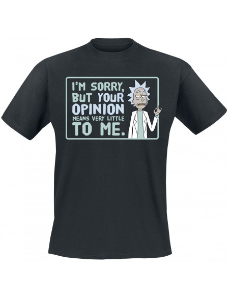 Rick & Morty Your Opinion T-shirt noir