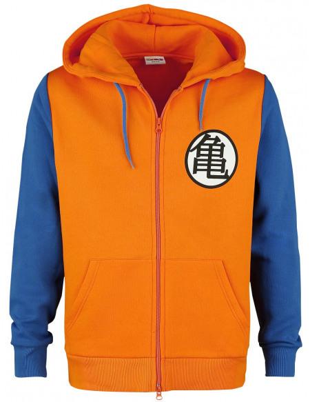 Dragon Ball Z Cosplay Sweat Zippé à Capuche orange/bleu