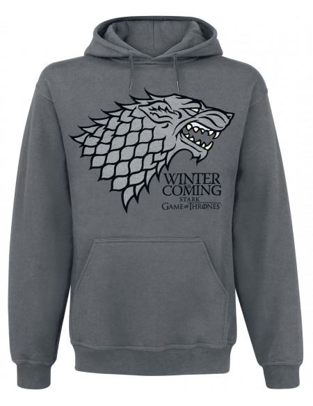 Game Of Thrones Maison Stark - Winter Is Coming Sweat à capuche gris