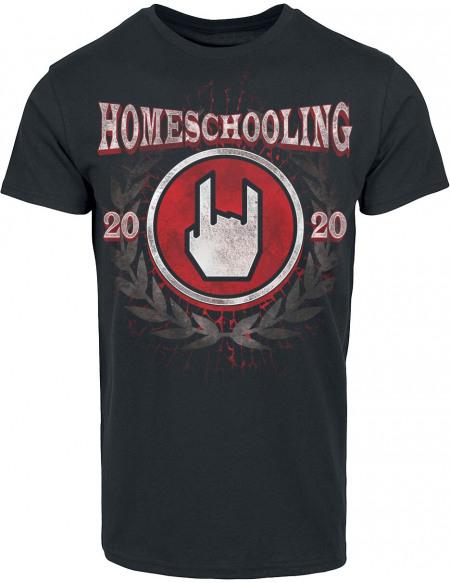 Homeschooling 2020 T-shirt noir